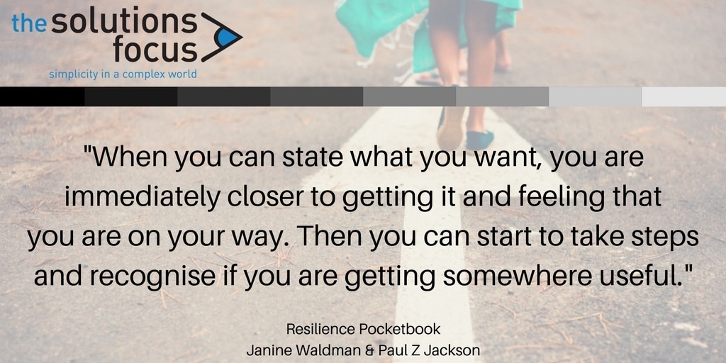 The Solutions Focus Resilience Pocketbook